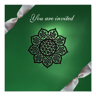 MAGIC EVENT ribbon green champagne Card