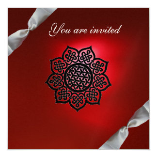 MAGIC EVENT ribbon white red champagne Card