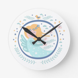 Magic Fairy Fairy Tale Character Round Clock