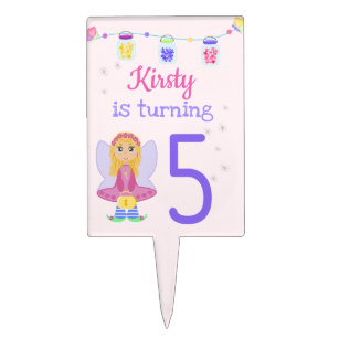 5th Birthday Girl Cake Toppers