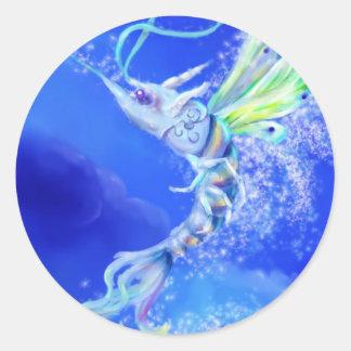 Magic Fairy Shrimp Classic Round Sticker