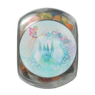 Magic Fairy Tale Princess Castle, Sweet Tin Glass Candy Jar