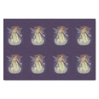 "Magic Fairy White Flower Glow Fantasy Art 10"" X 15"" Tissue Paper"