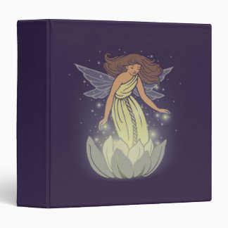 Magic Fairy White Flower Glow Fantasy Art 3 Ring Binder