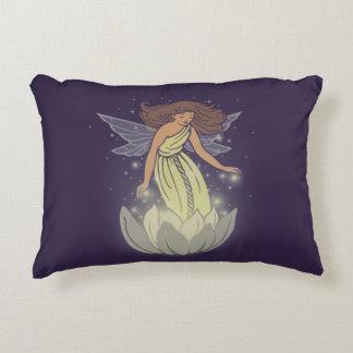 Magic Fairy White Flower Glow Fantasy Art Accent Pillow