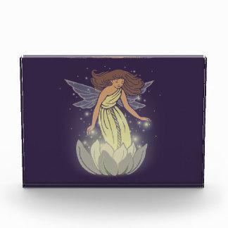 Magic Fairy White Flower Glow Fantasy Art Acrylic Award