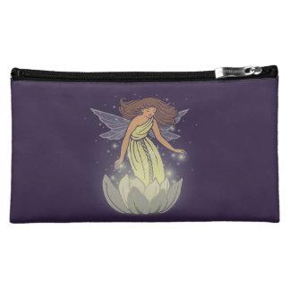 Magic Fairy White Flower Glow Fantasy Art Cosmetic Bags
