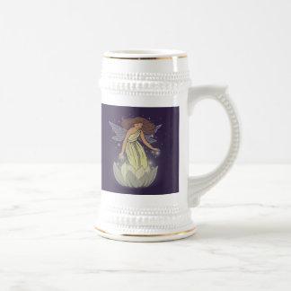 Magic Fairy White Flower Glow Fantasy Art Beer Stein