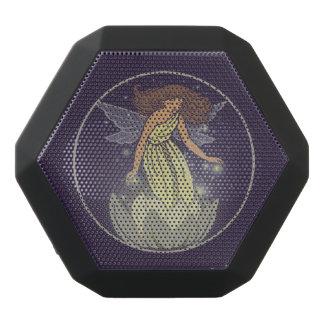 Magic Fairy White Flower Glow Fantasy Art Black Bluetooth Speaker
