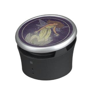 Magic Fairy White Flower Glow Fantasy Art Bluetooth Speaker