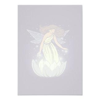 Magic Fairy White Flower Glow Fantasy Art Card