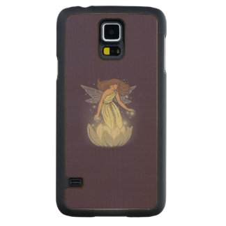 Magic Fairy White Flower Glow Fantasy Art Carved® Maple Galaxy S5 Slim Case