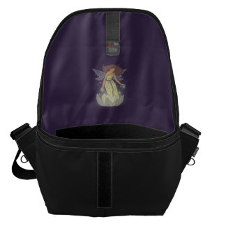 Magic Fairy White Flower Glow Fantasy Art Courier Bag