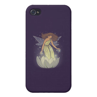 Magic Fairy White Flower Glow Fantasy Art Cover For iPhone 4