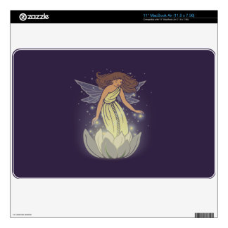Magic Fairy White Flower Glow Fantasy Art Decal For The MacBook Air