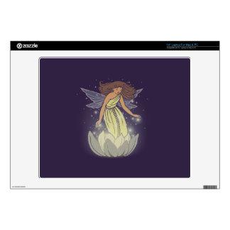 Magic Fairy White Flower Glow Fantasy Art Decals For Laptops