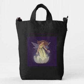 Magic Fairy White Flower Glow Fantasy Art Duck Bag