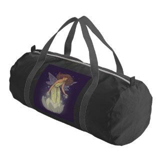 Magic Fairy White Flower Glow Fantasy Art Gym Bag