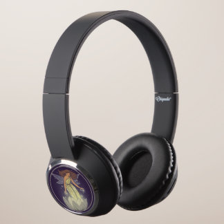 Magic Fairy White Flower Glow Fantasy Art Headphones