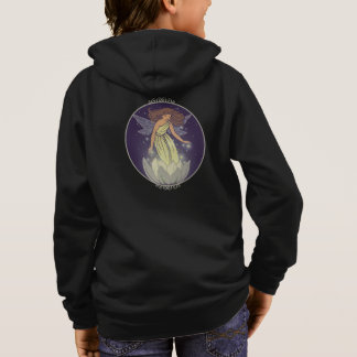 Magic Fairy White Flower Glow Fantasy Art Hoodie