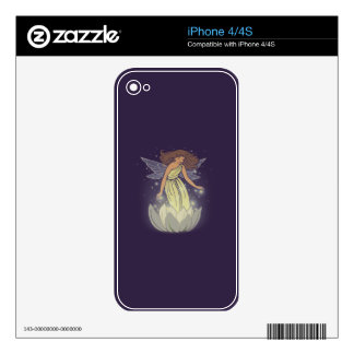 Magic Fairy White Flower Glow Fantasy Art iPhone 4 Decals