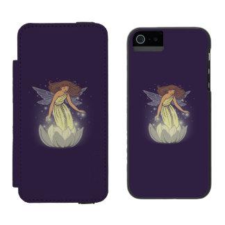 Magic Fairy White Flower Glow Fantasy Art iPhone SE/5/5s Wallet Case