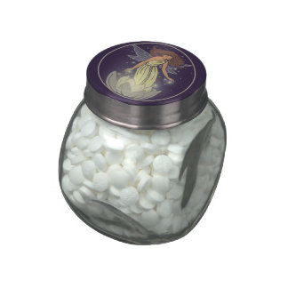 Magic Fairy White Flower Glow Fantasy Art Jelly Belly Candy Jar
