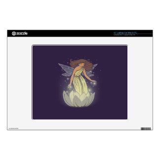 Magic Fairy White Flower Glow Fantasy Art Laptop Skin