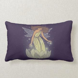 Magic Fairy White Flower Glow Fantasy Art Lumbar Pillow