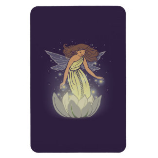 Magic Fairy White Flower Glow Fantasy Art Magnet