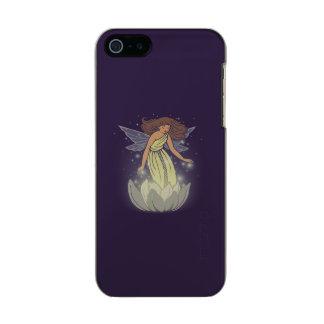 Magic Fairy White Flower Glow Fantasy Art Metallic Phone Case For iPhone SE/5/5s
