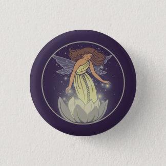 Magic Fairy White Flower Glow Fantasy Art Pinback Button