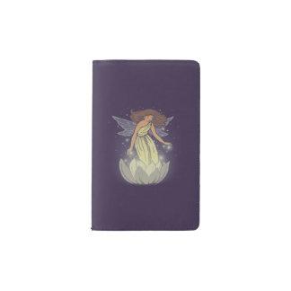 Magic Fairy White Flower Glow Fantasy Art Pocket Moleskine Notebook