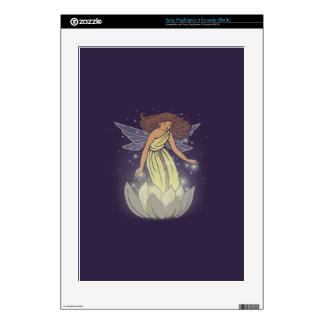 Magic Fairy White Flower Glow Fantasy Art PS3 Decals