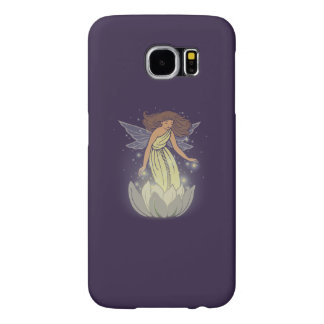 Magic Fairy White Flower Glow Fantasy Art Samsung Galaxy S6 Case