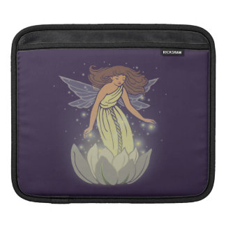 Magic Fairy White Flower Glow Fantasy Art Sleeve For iPads