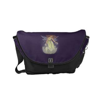 Magic Fairy White Flower Glow Fantasy Art Small Messenger Bag