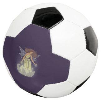 Magic Fairy White Flower Glow Fantasy Art Soccer Ball