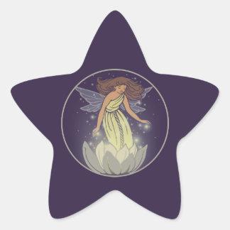 Magic Fairy White Flower Glow Fantasy Art Star Sticker