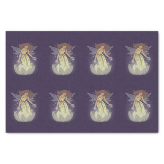 Magic Fairy White Flower Glow Fantasy Art Tissue Paper