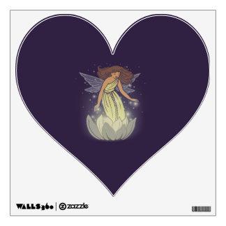Magic Fairy White Flower Glow Fantasy Art Wall Decal