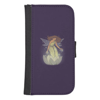 Magic Fairy White Flower Glow Fantasy Art Wallet Phone Case For Samsung Galaxy S4