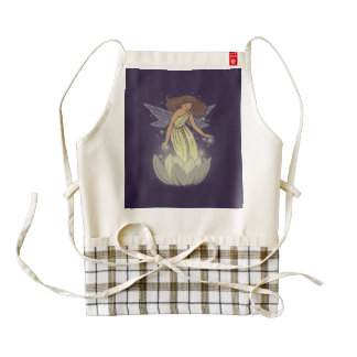 Magic Fairy White Flower Glow Fantasy Art Zazzle HEART Apron
