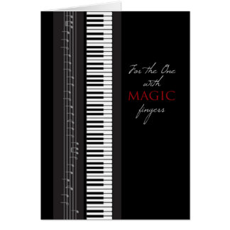 Magic Fingers Piano Happy Birthday Card