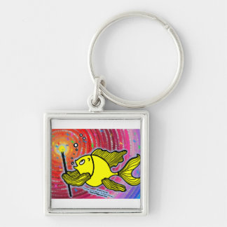Magic Fish cute funny sparky comics make a wish Keychain