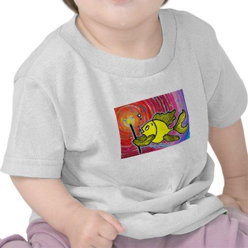 Magic Fish cute funny sparky comics make a wish T Shirts