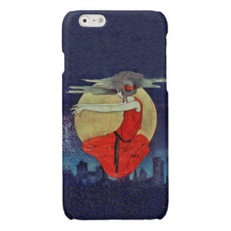 Magic Floating Woman Moon Night Sky Witch Glossy iPhone 6 Case