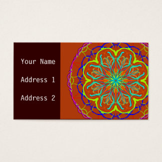 Magic Flower Mandala Business Card