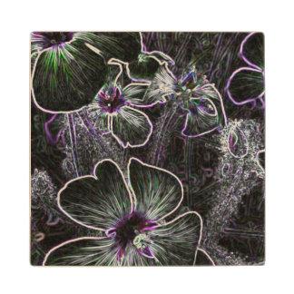 Magic Flower Maple Wood Coaster