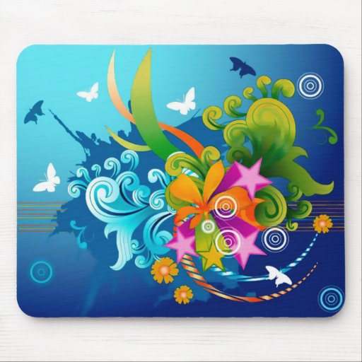 Magic Flowers Mouse Pad